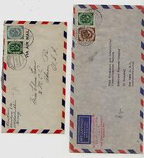 Germany  2  airmail post horn  stamps on covers     KL0401
