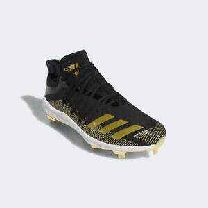 NWT $120 Adidas Afterburner 6 Baseball Cleats LE Black/Gold G27657 Sz 11