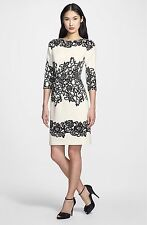 Adrianna Papell Placed Print Sheath Dress (size 10)