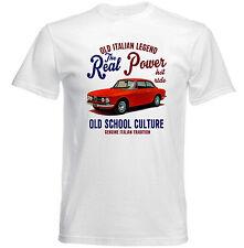 AUTO D'EPOCA ITALIANE ALFA ROMEO GIULIA SPRINT reale Potere-Nuovo T-shirt di cotone
