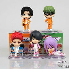 New in Box Lot 5pcs Kuroko No Basketball Kagami Taiga Takao Kiyoshi Figurine K01