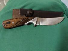 Sog Woodline Fixed Knife w/ leather sheath (wD-01)