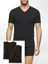 NWT Calvin Klein 2-Pack Cotton Stretch Short Sleeve V-Neck Tee Shirts Sz M L XL