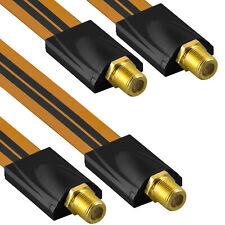 2x mumbi Fensterdurchführung SAT Kabel Antennenkabel 2x F-Buchse Flachkabel 26cm