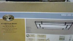 128-Watt Natural Iron Integrated LED Ceiling Flush Mount