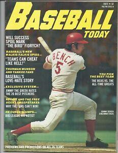 1977 Baseball Today magazine Johnny Bench, Cincinnati Reds, Thurman Munson VG