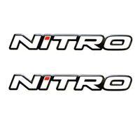 -2- NITRO BOAT 3D Vinyl Decals Sticker Ski Wakeboard Sun Bass Tracker Raised