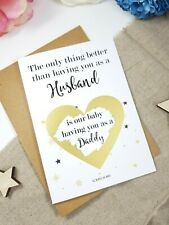 only thing better than husband having you as daddy Pregnancy Reveal card PA128