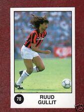1987 Italy Panini RUUD GULLIT~Haarlem~Calcio Milan~Amsterdam~Rozendwarsstraat~++