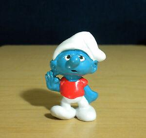 Smurfs 20402 Slouchy Smurf Smurfling Rare Vintage Figure Peyo PVC Toy Figurine