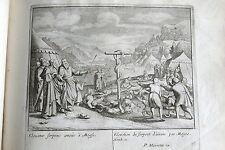 C21-50 Gravure religieuse 17e élévation du serpent d'airain par Moyse (nom21)