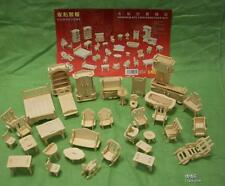 34pieces 3Dwoodcraft kit dolls house furniture miniatures  gift