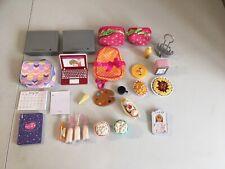 27 Our Generation Battat Doll Accessories Lot - Tv Bags Laptop Food Drinks Art