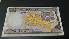 Singapore $25 banknote Orchid