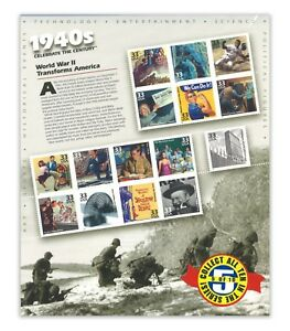 USA 1998 Celebrate the Century 1940s No.5 In A Series of Ten Sheets Stamps MUH