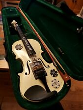 Jack Daniels Violin,real  barrel wood, beautiful hand made,USA.My cancer Auction