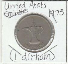 1973 United Arab Emirates1 Dirham Coin -Dallah (Arabic coffee pot) - Loc#3