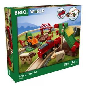 Brio World Eisenbahn Set Großes BRIO Bahn Bauernhof-Set 30 Teile 33984