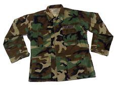 Military Hot Weather Combat Coat Size Medium Regular Woodland Camo BDU NSW SEAL