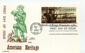 UX85 Battle of Kings Mountain, 1780, Colonial FDC