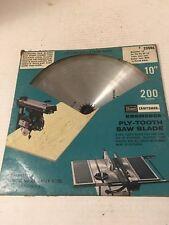"Craftsman 10"" 200 Tooth Kromedge Ply Tooth Saw Blade 9-32446 5/8 Arbor"