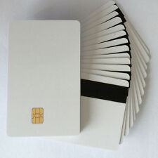 100pcs/Lot 2 in1 FM4442 Chip with Hi-Co Magnetic Stripe PVC Blank Card Printable