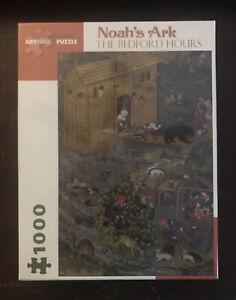 "The Bedford Hours ""Noah's Ark"" 1000 Piece Puzzle Pomegranate Art Piece FREE SHIP"