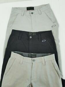 Lot of 3 Oakley Golf Pants Regular Fit Size 30X30 Khaki Tan POLYESTER.