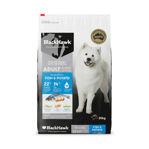 BLACK HAWK Dry Dog Food Adult Fish And Potato 20 kg