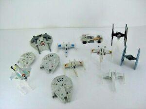 Lot Of Star Wars Die Cast Ships & Vehicles Tie Fighter Millennium Falcon