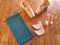 Bloch Or Merlet pointe shoes YOU PICK! + ribbon/elastic,gel pads&mesh bag!