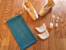 Stretch ribbon/elastic  EXTRA ELASTIC gel pads, bag For Pointe Shoes! Bunheads