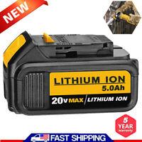 For Dewalt 20V Max XR DCB205 5.0Ah Li-ion Cordless battery DCB204 DCB200 DCB203