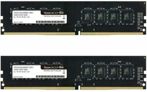 TEAMGROUP Elite DDR4 64GB Kit (2 x 32GB) 2666MHz (PC4-21300) CL19 Unbuffered Non