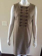New Tory Burch Tweed Multi Button Sleeveless Sheath Dress Size 8