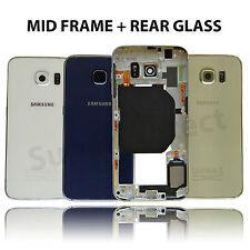 Genuine Samsung Galaxy S6 G920F Marco Bezel chasis Repuesto + Cubierta De Vidrio Trasero