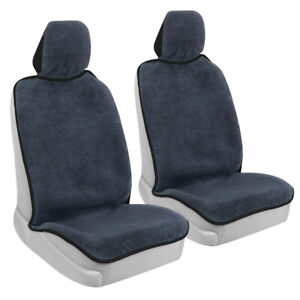 2-Pack BDK Waterproof Towel Car Seat Cover for Front Seat, Black Trim