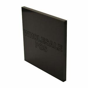 Black Acrylic Sheet Perspex Panel 297mm x 210mm x 3mm Thick Sheet Sawn Edges