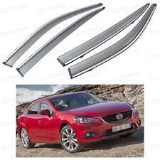 Front & Rear Window Visor Deflector Vent Shade for Mazda 6 Sedan 2013-2016 14 15