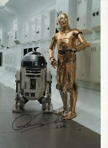 """STAR WARS - ANTHONY DANIELS - personally signed picture 8"""" x 12"""" - vgc - coa"""