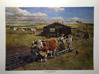 The New Land-Old Land Lithograph By John Falter 1975 3M Company- Sioux - Farm