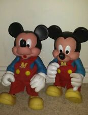 Mickey Mouse Disney--Vintage- Arco--vinyl 15 inch figure.