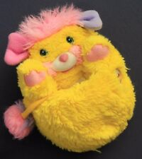 Vintage Potato Chip Popples Plush Toy Mattel 1985 Very Clean Bright Yellow Pink