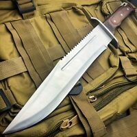 """16"""" Full Tang TACTICAL Hunting Rambo Fixed Blade Camping Bowie Knife w Sheath"""