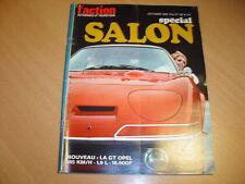 action auto N°97 Spécial Salon.Renault 6.Peugeot 504
