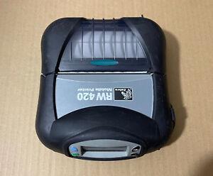 "Zebra RW420 4"" Label Receipt Bluetooth BT Thermal Printer R4A-0UBA000E-00"