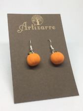 Polymer Clay Cute Pumpkin Earrings