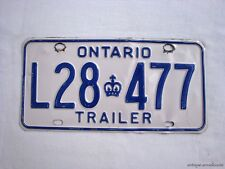 ONTARIO Vintage License Plate TRAILER # L28 477