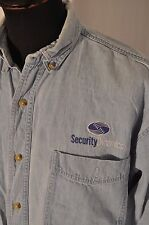 Vintage Lee denim western Security Dynamic logo shirt size Large work wear