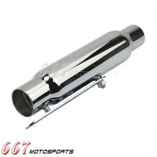 "12"" Shorty Exhaust Pipe Muffler For Cafe Racer Bobber Chopper Cruiser Universal"